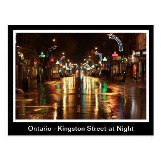 Ontario, Kingston-Straße nachts Postkarte