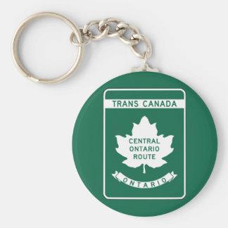 Ontario, Transport-Kanada Landstraßen-Zeichen Schlüsselanhänger