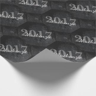 Onyx-graduierter klassischer schwarzer geschenkpapier