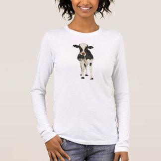 Onyx-u. Elfenbein-Kuh-T - Shirt