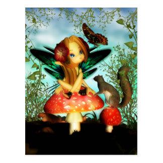 Ooh hübscher Schmetterling - niedliche kleine Postkarte
