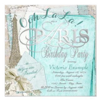 Ooh La-La-aquamarines Vintages Karte