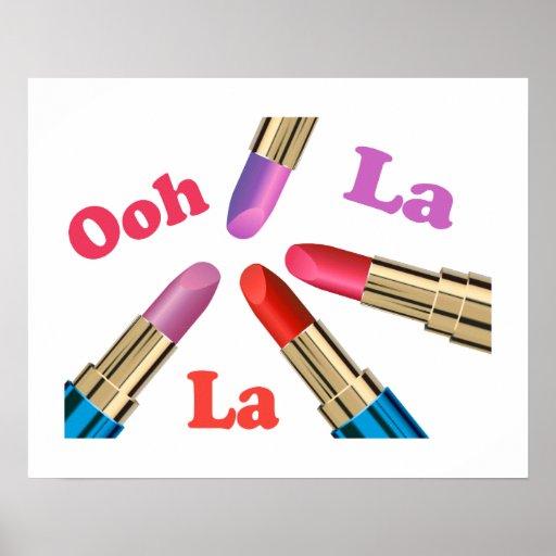 Ooh La-La-Luscious Lippenstift Plakat