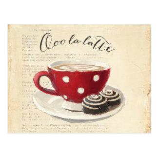 Ooo La Latte Postkarte