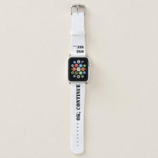 """""""Oops, gerade ein zweites """" Apple Watch Armband"""
