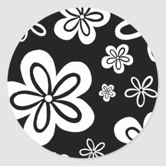 Oopsy Gänseblümchen - Rückseite Runder Aufkleber