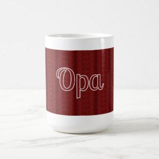 Opa tiefrot kaffeetasse