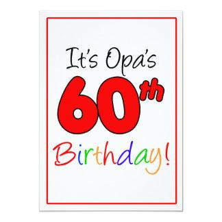 Opas 60. Meilenstein-Geburtstags-Party-Feier 12,7 X 17,8 Cm Einladungskarte