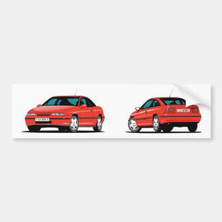 Opel Calibra-Rot Autoaufkleber