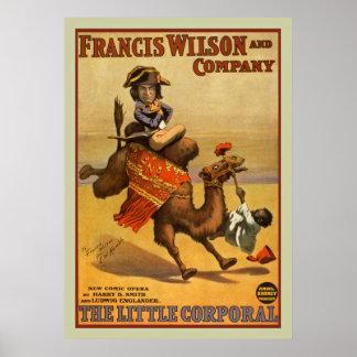 Opern-darstellende Kunst-Vintages Plakat