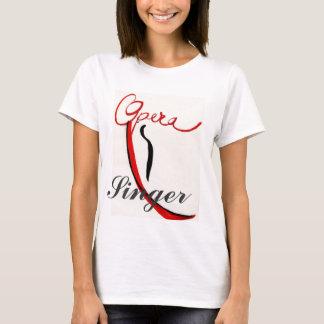 Opern-Sängerwestespitze T-Shirt