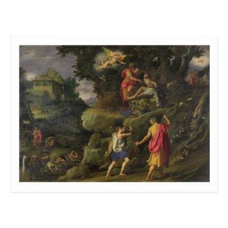 Opfer von Isaac, 1601 (Öl auf Platte) Postkarte