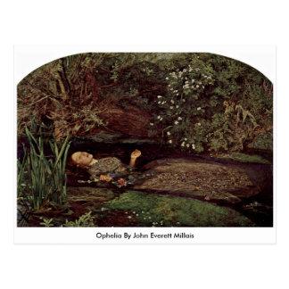 Ophelia durch John Everett Millais Postkarte