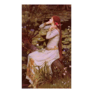 Ophelia durch John William Waterhouse Poster