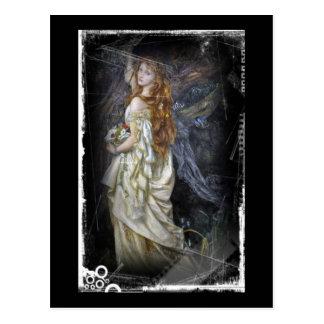 Ophelia im Weiß Postkarte