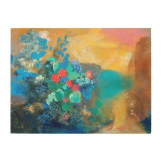 Ophelia unter den Blumen   Odilon Redon Holzwanddeko