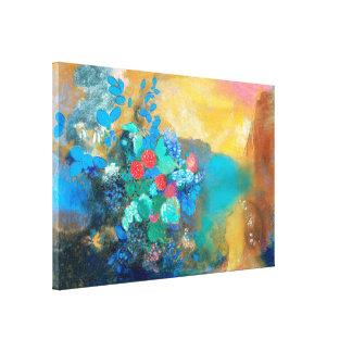 Ophelia unter den Blumen   Odilon Redon Leinwanddruck