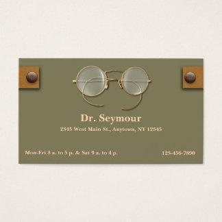 Ophthalmologist, Optometriker, Optiker für Augen Visitenkarte