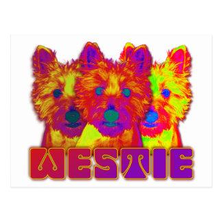 OPkunst - Westhochland Terrier Postkarte