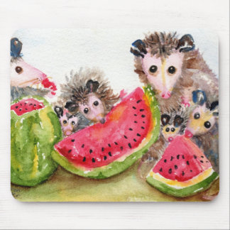 Opossum-Picknick Mousepad