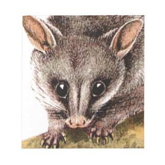 Opossumhauptkunst Notizblock