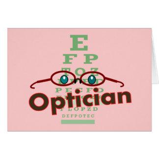 Optiker--Augendiagramm Geschenke Karte
