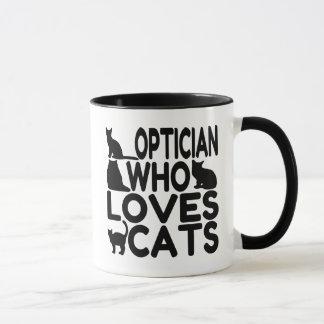 Optiker der Liebe-Katzen Tasse