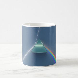 Optikprisma-brechendes und reflektierendes Licht Kaffeetasse