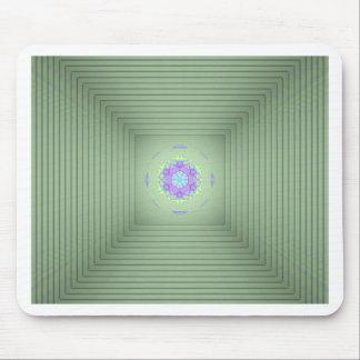 Optische Illusion des coolen seltenen grünen Mousepads