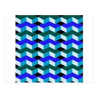 optische Täuschung 3d Postkarte