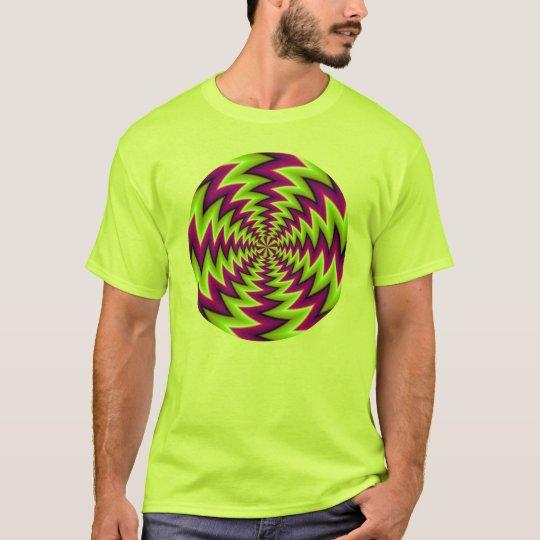 optische Täuschung bunt T-Shirt