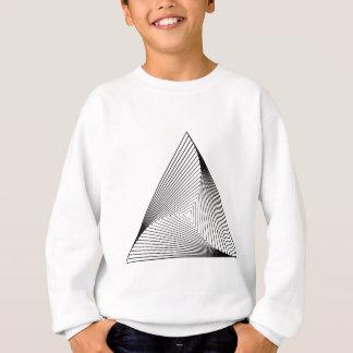 optische Täuschung des Dreieck-3d Sweatshirt