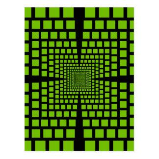Optische Täuschung Postkarte