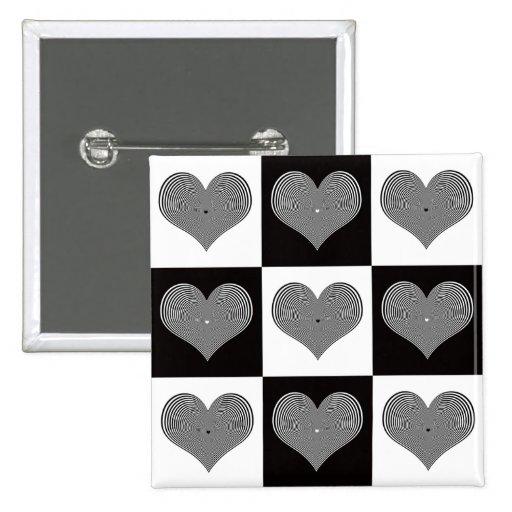 Optischer Valentinsgruß-Knopf Anstecknadelbutton