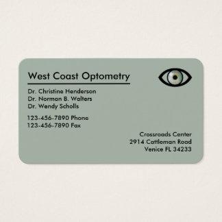 Optometriker modernes Businesscards Visitenkarte