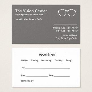 Optometriker und Visions-Sorgfalt Visitenkarte