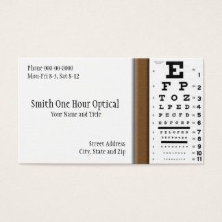 Optometriker-Visitenkarte Visitenkarte