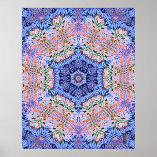 Opulenter Kunst-Druck der Hexagram-Veränderungs-4 Poster