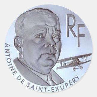 OPUS Antoine de Heilig-Exupery Coin Runder Aufkleber