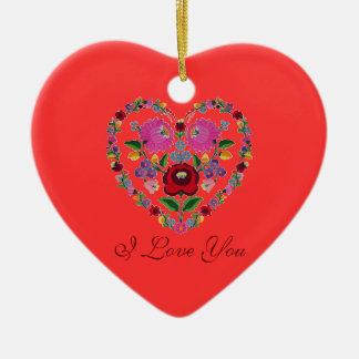 OPUS VERÄNDERBARES ungarisches Herz Keramik Ornament