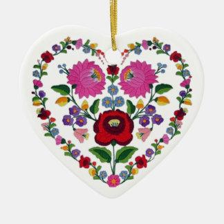 OPUS VERÄNDERBARES ungarisches Herz TBA Keramik Ornament