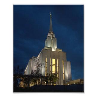 Oquirrh LDS Tempel Fotodruck
