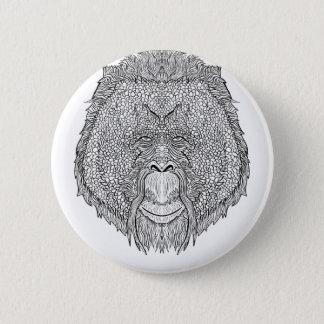 Orang-Utan Affe-T-Stück - Runder Button 5,7 Cm