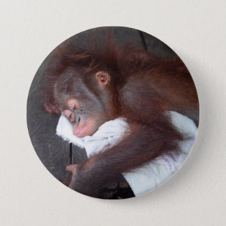 Orang-Utan Baby-Waisenschlafen Runder Button 7,6 Cm