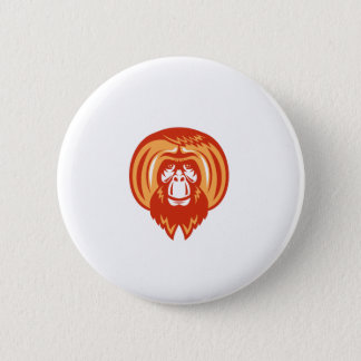 Orang-Utan bärtiges vorderes Retro Runder Button 5,7 Cm