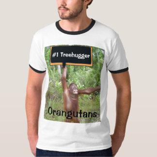 Orang-Utan der Zahl-eine #1 Treehugger T-Shirt