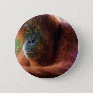 Orang-Utan Primat-Porträt-Tier-Kunst-Geschenk Runder Button 5,1 Cm
