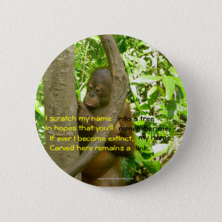 Orang-Utan Tribut Runder Button 5,7 Cm