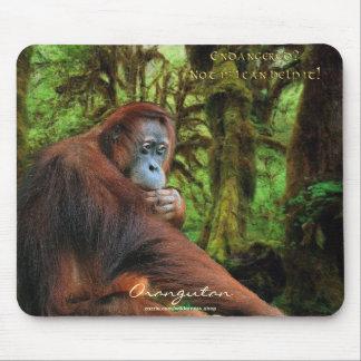 Orang-Utan u. Regenwald Tier-Unterstützung Mousepad