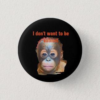 Orang-Utan wild lebende Tiere Runder Button 3,2 Cm